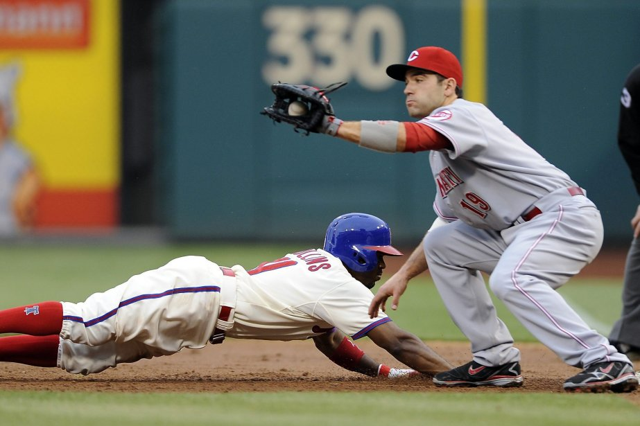 Jimmy Rollins, des Phillies revient sur le premier... (Photo Michael Perez, AP)