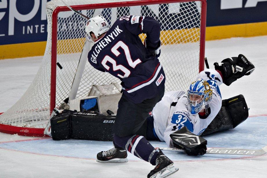 Le joueur du Canadien Alex Galchenyuk a inscrit... (Photo : Jacques Boissinot, PC)