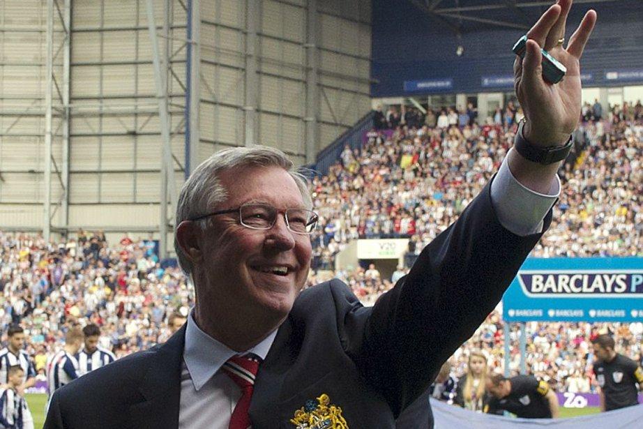 La carrière d'Alex Ferguson s'est terminée sur un... (Photo : Adrian Dennis, AFP)