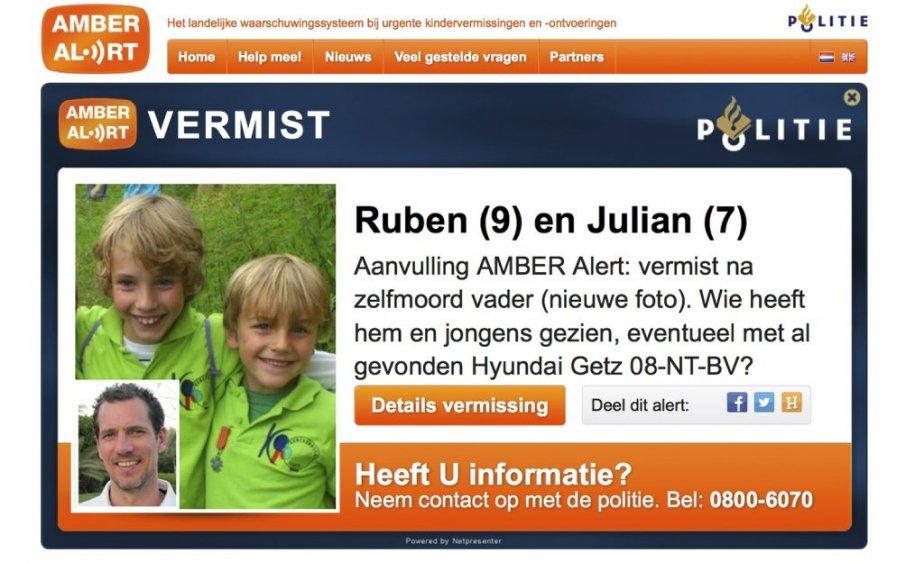 L'alerte Amber concernant Julian et Ruben.... (Photo AFP)