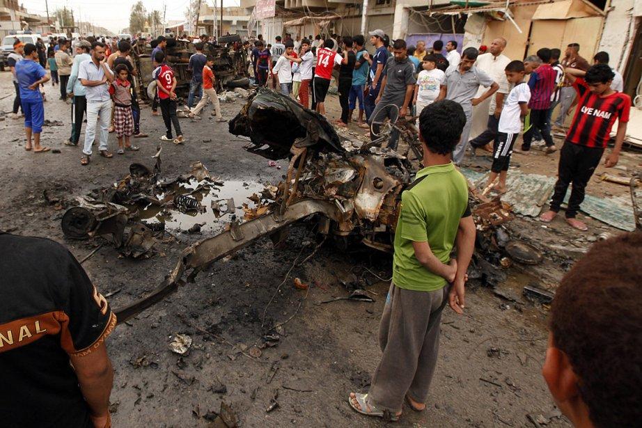 Lundi matin, huit attentats, commis pour la plupart... (Photo: AP)