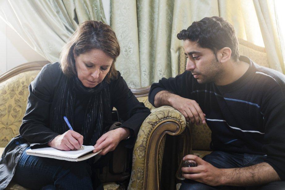 Mohammed (à droite) a été traducteur pour notre... (Photo : Édouard Plante-Fréchette, La Presse)