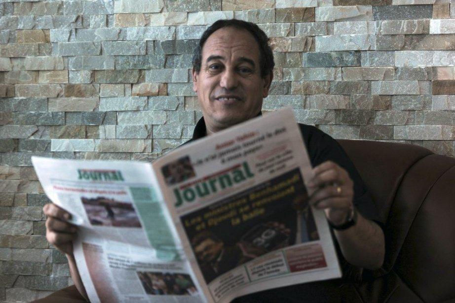 Hichem Aboud dirige les deux journaux saisis.... (PHOTO FAROUK BATICHE. AFP)