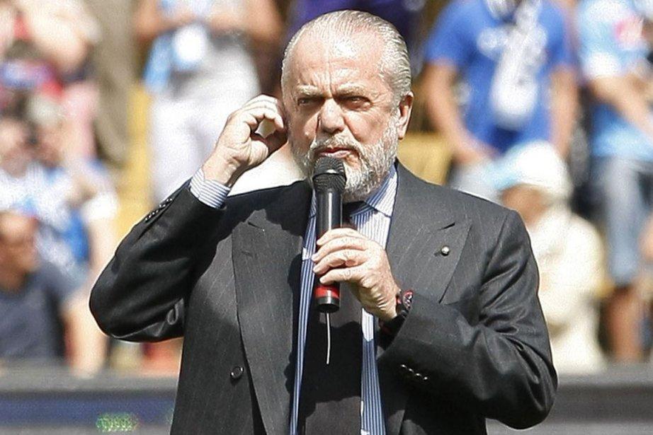 Aurelio De Laurentiis, le président de Naples, souhaite... (Photo : Carlo Hermann, archives AFP)