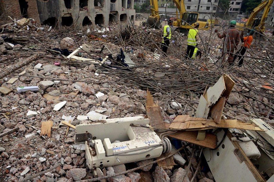 Depuis l'effondrement d'un immeuble du secteur textile le... (Photo: AP)
