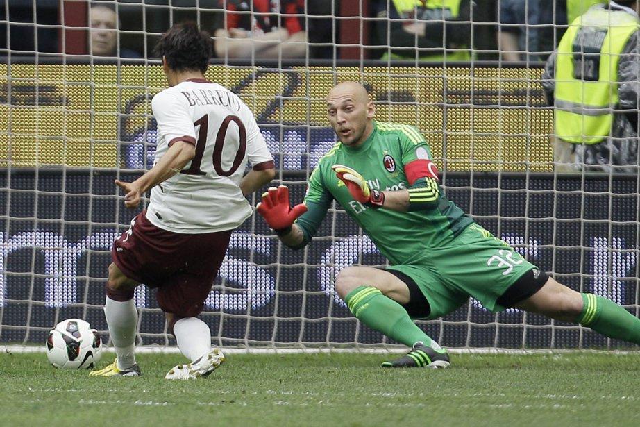 Christian Abbiati, 35 ans, a prolongé son contrat... (Photo : Antonio Calanni, archives AP)