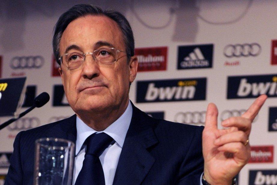 Florentino Perez a été reconduit  dimanche à... (Photo : Dominique Faget, archives AFP)