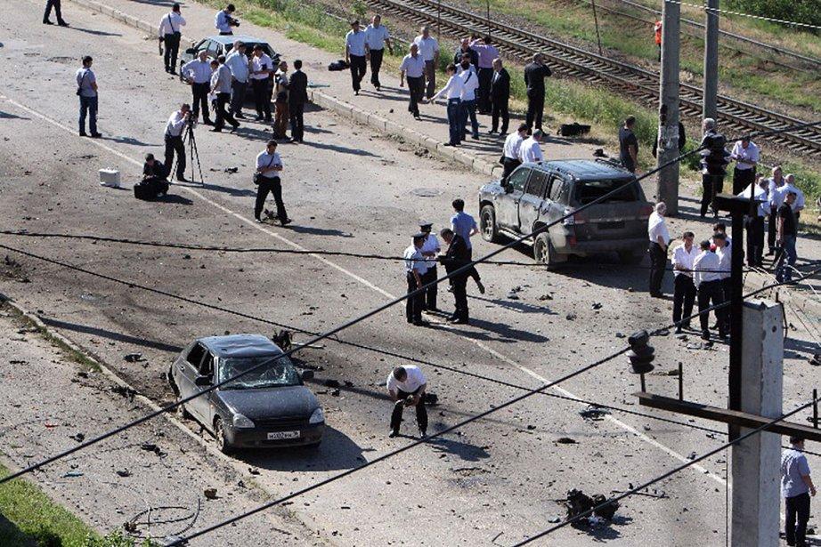 L'attentat a été perpétré près du siège des... (Photo: AFP)