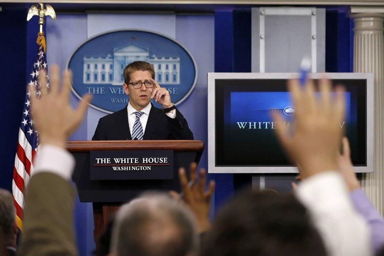 Le porte-parole du présidentJay Carney a eu droit... (Photo: Reuters)