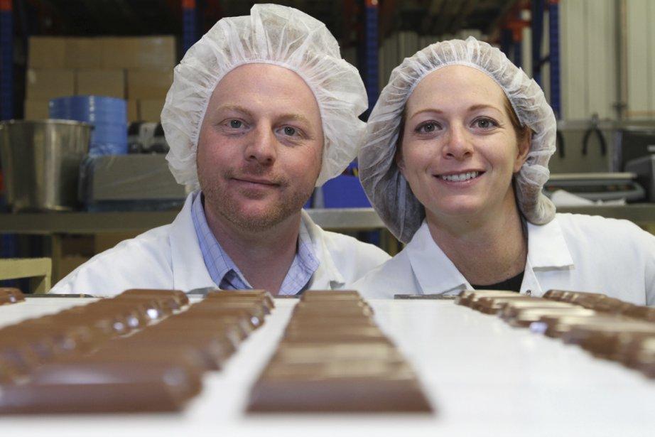 Danny et Tina Lamontagne, de la PMEChocolatLamontagne. l'entreprise... (Photo Stéphane Champagne, collaboration spéciale)