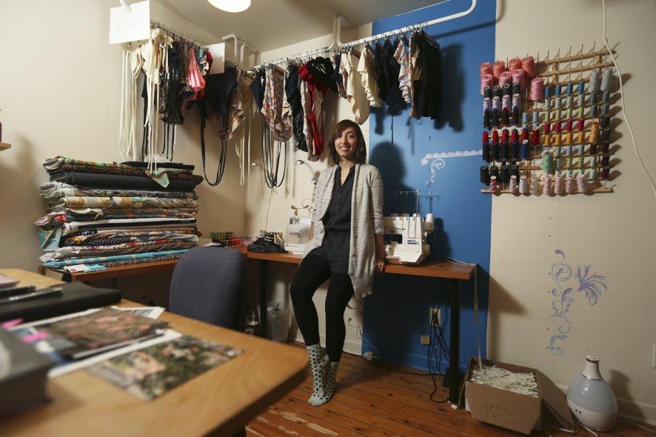 Camille Forcherio, designer de la marque de maillots... (PHOTO MARTIN CHAMBERLAND, LA PRESSE)