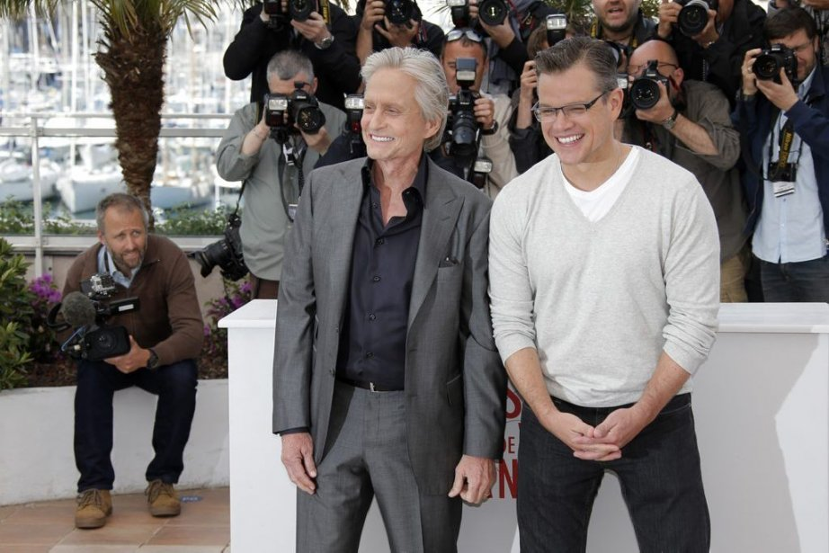 Michael Douglas et Matt Damon, vedettes de Behind... (Photo: AP)