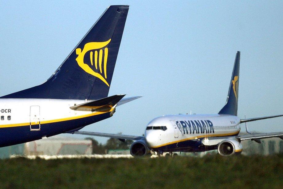 La compagnie irlandaise à bas coût Ryanair... (Photo: archives Bloomberg News)
