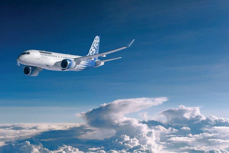 L'avion CS100 de Bombardier.... (Photo fournie par Bombardier)