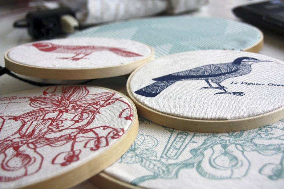 La collection de coussins, nappes, sachets de senteurs,... (Photo fournie par le Collectif textile)