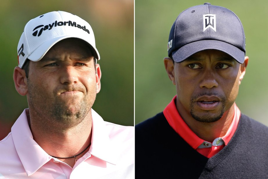 Sergio Garcia et Tiger Woods... (Photos archives AP)