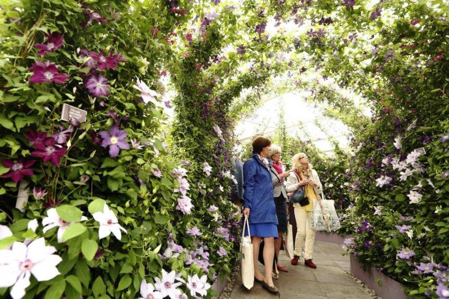 Des visiteurs se promènent au Chelsea Flower Show... (PHOTO LUKE MACGREGOR, REUTERS)