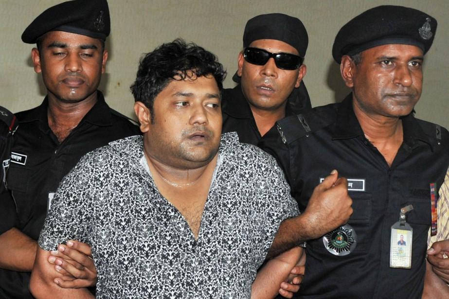 Sohel Rana lors de son arrestation le 28... (PHOTO ARCHIVES REUTERS)