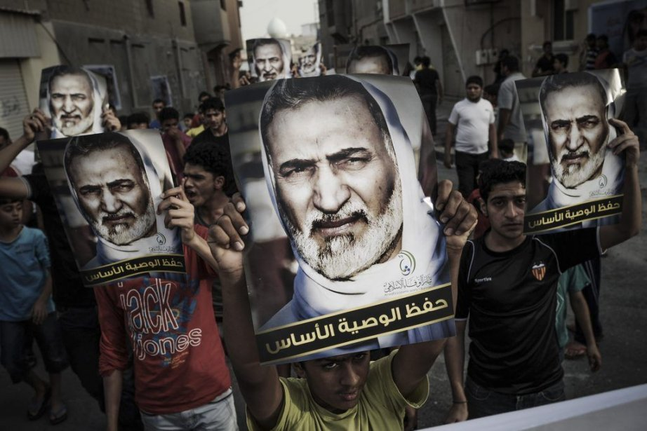 Des manifestants au Bahreïn, le 20 mai dernier.... (Photo MOHAMMED AL-SHAIKH, AFP)