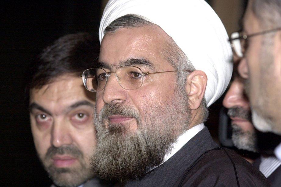 Hassan Rohani, ancien négociateur nucléaire sous la présidence Mohammad Khatami, au début des années 2000. Conservateur dit modéré, il est l'un des plus connus des huit candidats. | 22 mai 2013