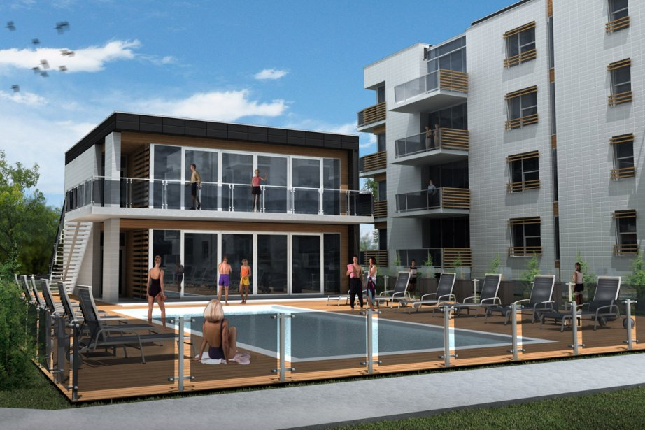 La piscine sera chauffée à l'année, au gaz naturel. (Photo Robert Skinner, La Presse)
