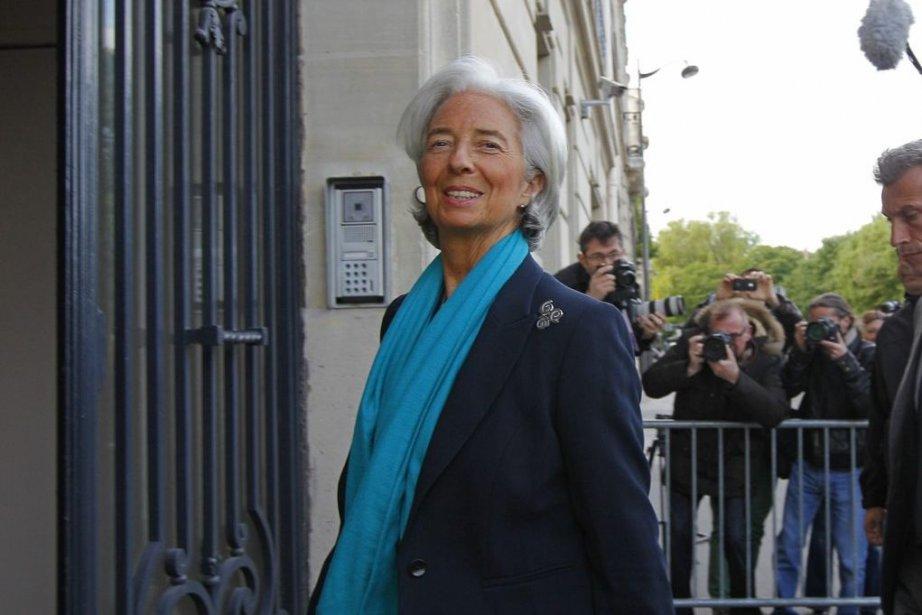 Christine Lagarde, jeudi à son arrivée à laCour... (Photo Jacques Brinon, AP)