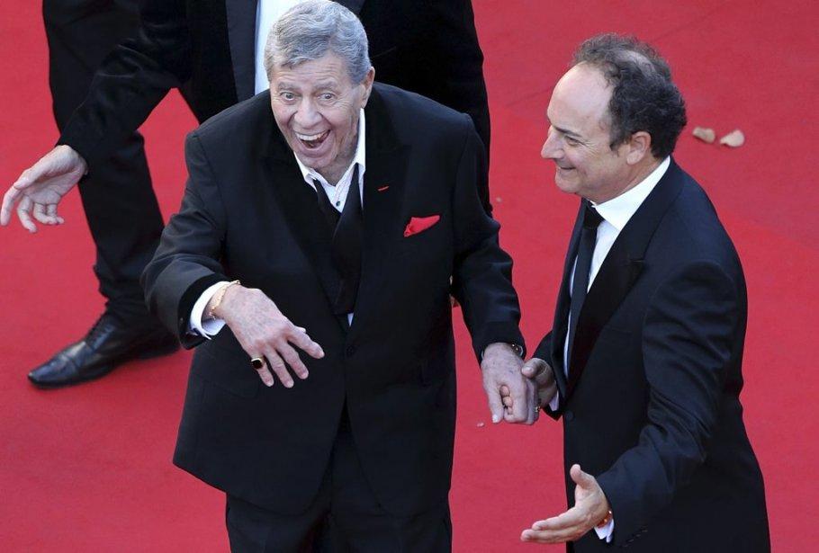 Jerry Lewis (à gauche) en compagnie de Kevin Pollak à la projection de «Max Rose». | 23 mai 2013