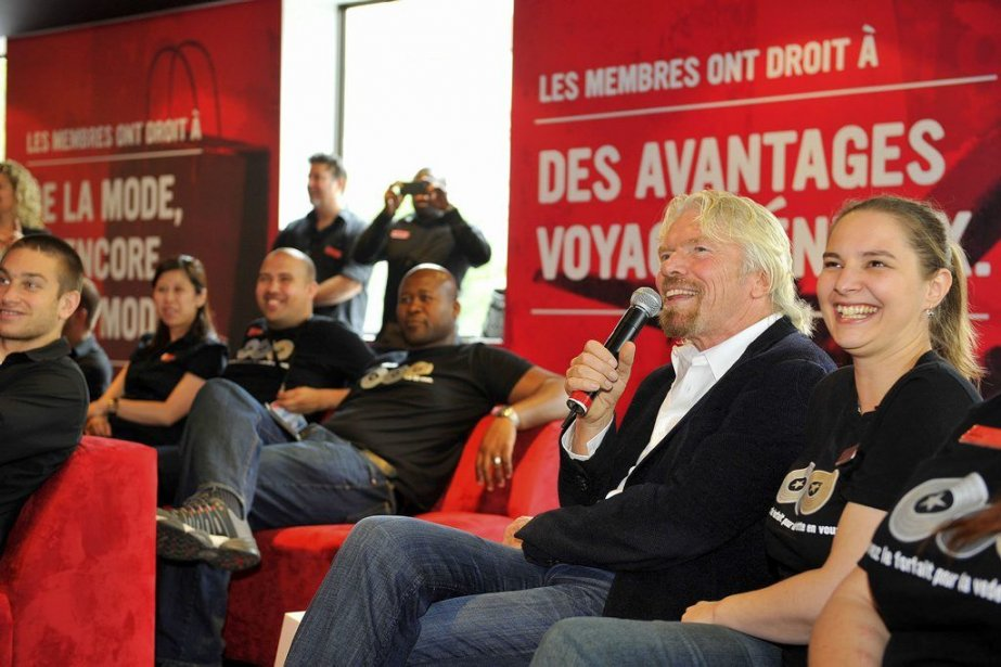 Richard Branson, lors de son passage à Montréal.... (Photo CNW)