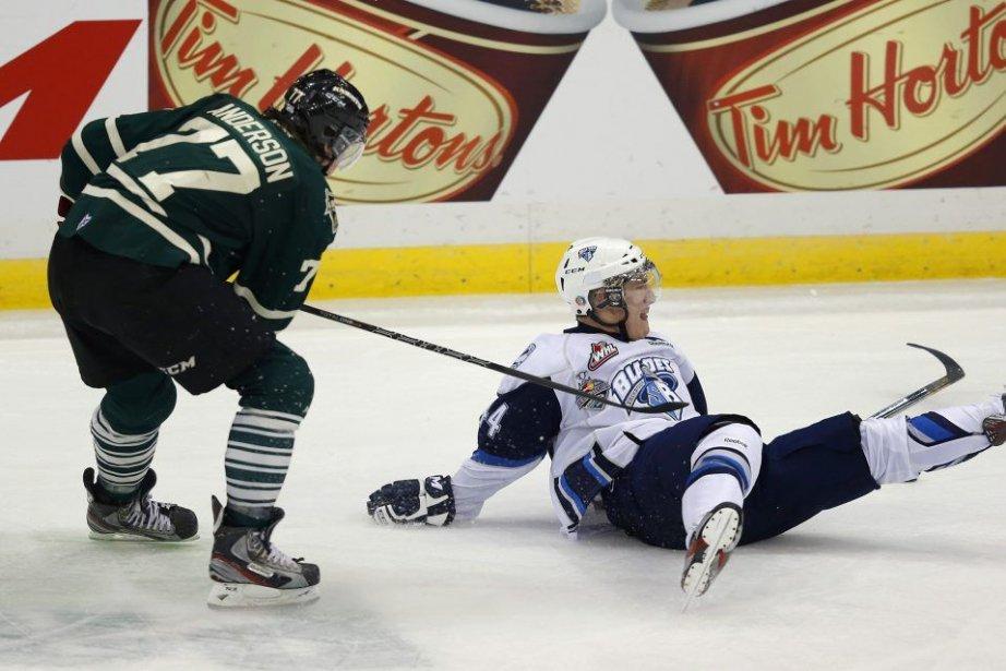 Bo Horvat a marqué sur un tir de pénalité en infériorité numérique... (Photo PC)