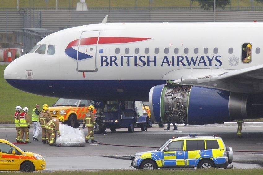 L'appareil, un Airbus A319 appartenant à British Airways... (PHOTO STEVE PARSONS, AP)