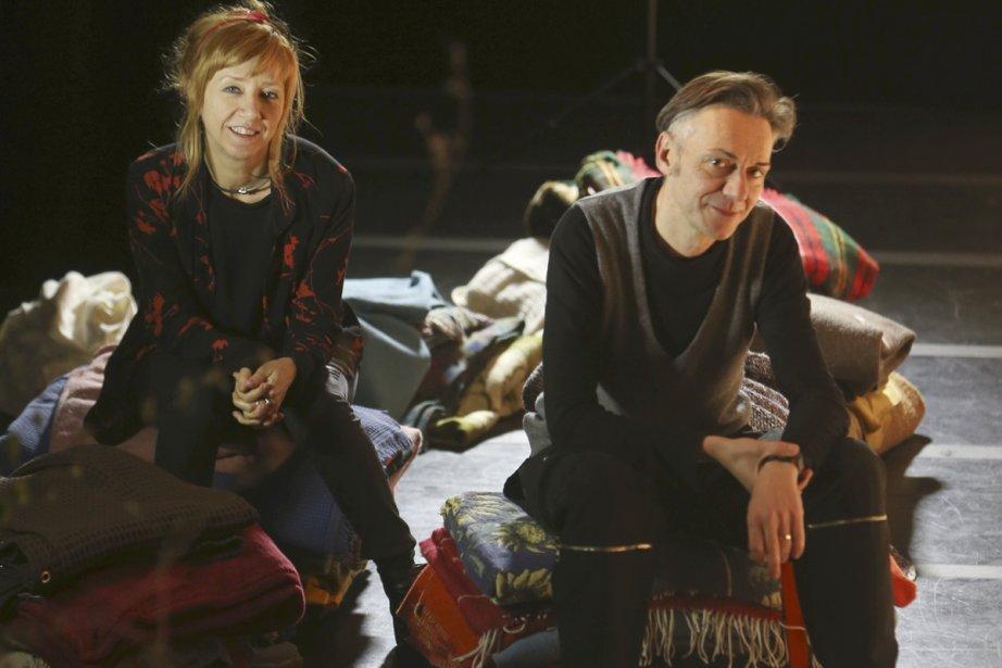 Les metteurs en scène italiens Daniela Nicolo et... (Photo: Martin Chamberland, La Presse)