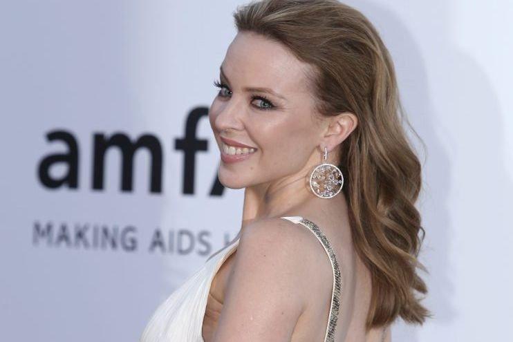 La chanteuse Kylie Minogue au gala de l'amfAR.... (Photo: AP)