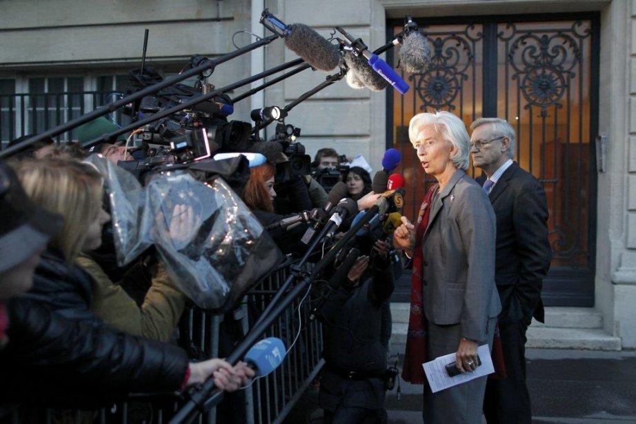 La directrice générale du FMI, Christine Lagarde.... (Photo STEPHANE MAHE, REUTERS)