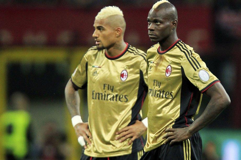 Le 12 mai dernier, Kevin-Prince Boateng et Mario... (Photo Alessandro Garofalo, Reuters)