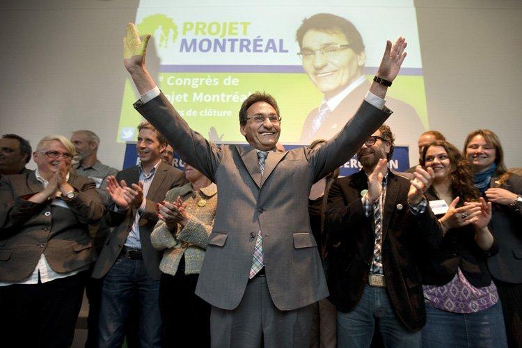 Richard Bergeron a rebaptisé son parti «Projet Montréal... (Photo: Robert Skinner, La Presse)