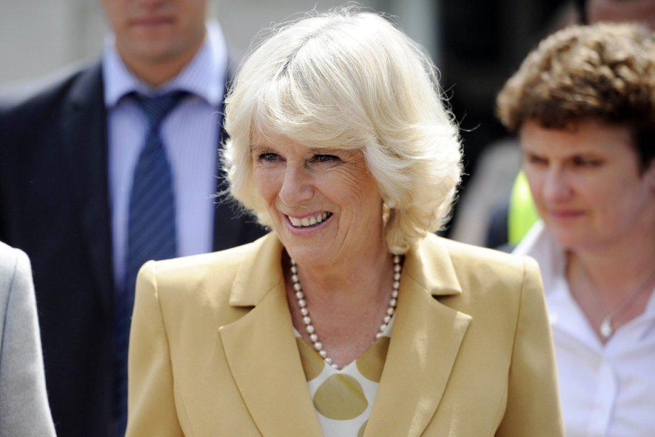 L'épouse du Prince Charles, Camilla, est arrivée aujourd'hui... (PHOTO FRED DUFOUR, AFP)
