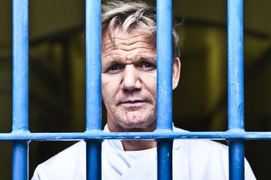 Gordon Ramsey derrière les barreaux... (Photo: fournie par Zeste)