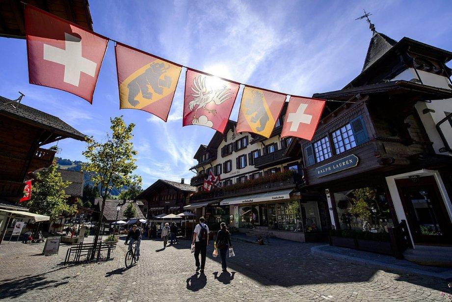 Le célèbre village de Gstaad, dans l'ouest de... (Photo: AFP)