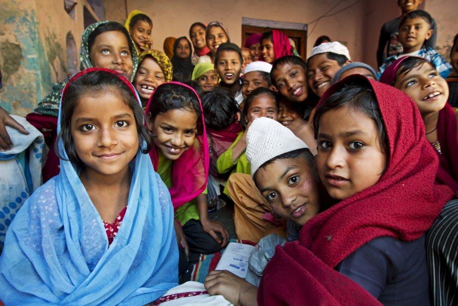 Une cour d'école dans l'Uttar Pradesh, en Inde.... (Photo Martin Leblanc, La Presse)