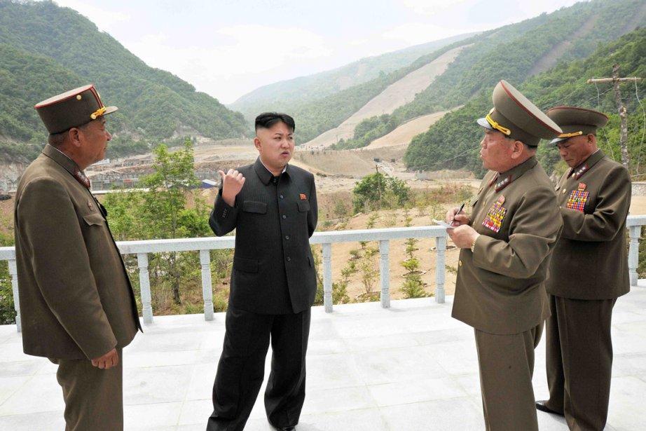 Kim Jong-Un a sommé les ouvriers d'achever l'aménagement... (PHOTO AFP)