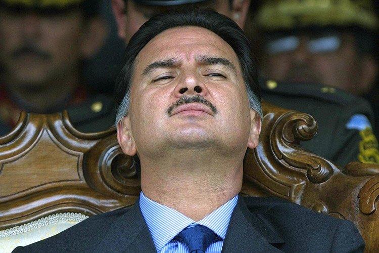 Alfonso Portillo alors qu'll était président, en 2003.... (Photo: AFP)