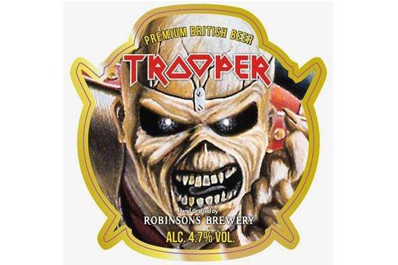 L'étiquette de la Trooper destinée au marché suédois....