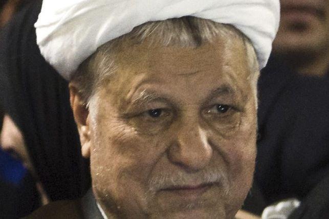 L'ex-président Akbar Hachémi Rafsandjani... (PHOTO BEHROUZ MEHRI, AFP)