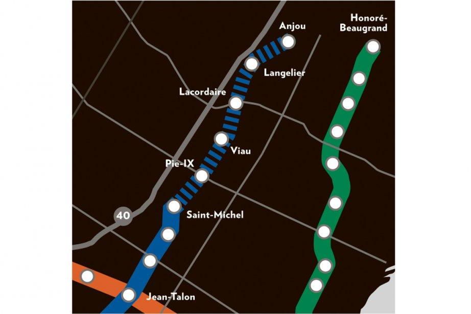 Le prolongement de la ligne bleue... (Infographie La Presse)