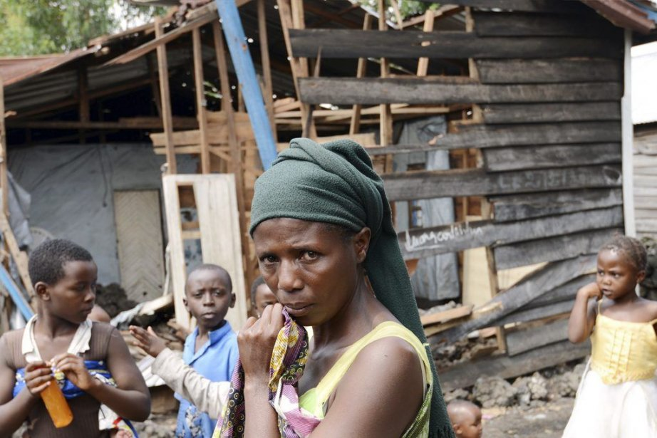 Famille éprouvée à Karisimbi au sud de Goma... (Junior D. Kannah)