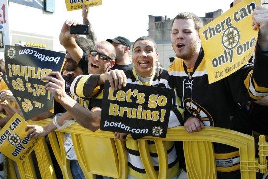 Le moral des amateurs de hockey de Boston...