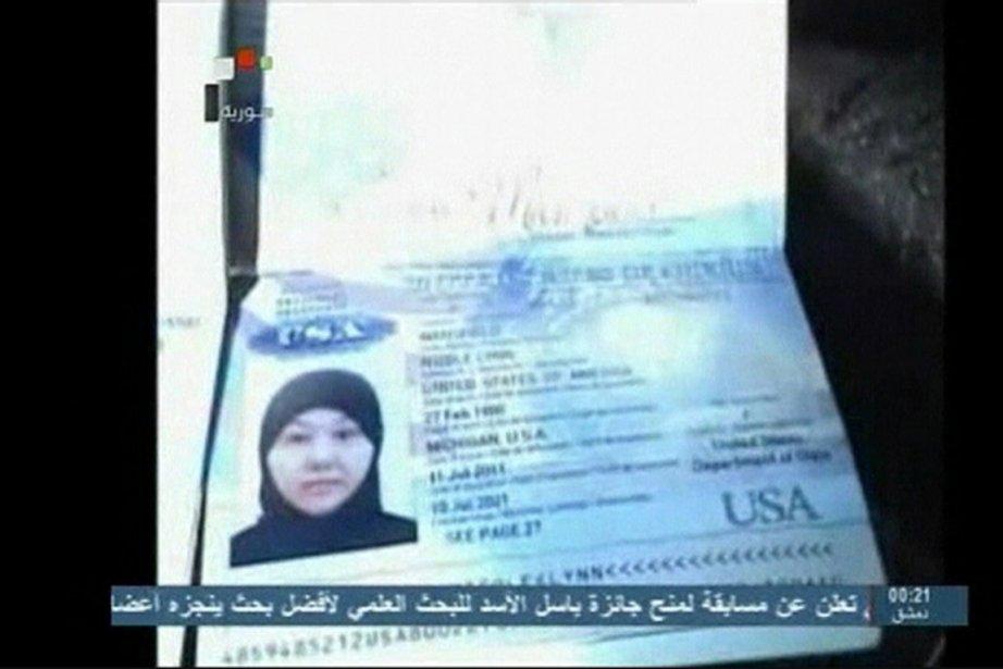 Nicole Lynn Mansfield (notre photo) a reçu une... (PHOTO REUTERS TV/ SYRIAN TV)