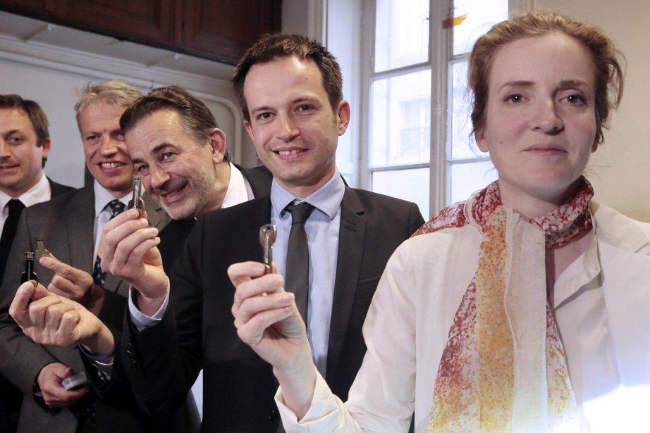 Quatre candidats à l'investiture de l'UMP pour l'élection... (PHOTO JACQUES DEMARTHON, AFP)