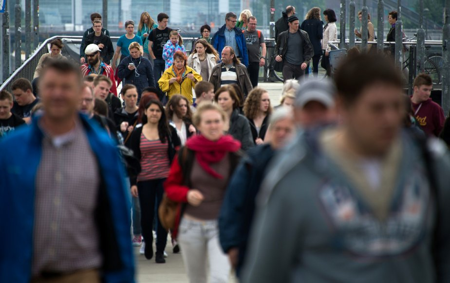 L'Allemagne est toujours le pays le plus peuplé... (PHOTO JOHANNES EISELE, AFP)