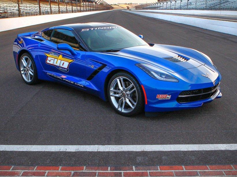Cette Corvette est la 12e a avoir servi comme voiture de tête aux 500 Miles d'Indianapolis. (Photo fournie par General Motors)